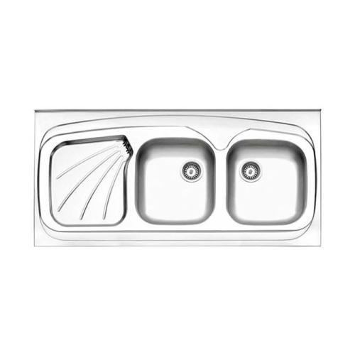 سینک روکار طرح پروانه استیل البرز مدل 270.60
